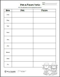 Squarehead Teachers: Verb Tenses worksheet (freebie!) great for ESL/ELL students