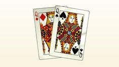 """Two Queens"" produced in Remastered in Open Source, Queens, Cards, Maps, Playing Cards"