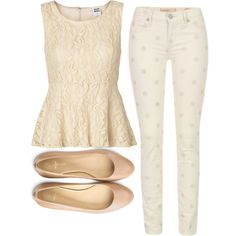 """""""polka dot pants and flats"""" by bellalee2000 on Polyvore"""