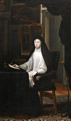 Juan Carreño de Miranda, Retrato de la reina Mariana de Austria, 1670, Museo del Prado, (1634-1696) casada con Felipe IV, madre de Carlos II.