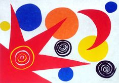 View La Mémoire Elémentaire 9 Red Sun Red Moon and Planets by Alexander Calder on artnet. Browse more artworks Alexander Calder from Skot Foreman Fine Art. Abstract Prints, Fine Art, Student Art, Alexander Calder, Abstract Artwork, Art, Artsy, Abstract, Prints