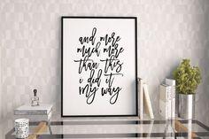 PRINTABLE ArtFRANK SINATRA QuoteMy WayInspirational by TypoHouse