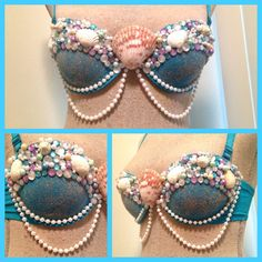 DIY Mermaid bra. i'm pinning this because WHY WOULD YOU NEED THIS