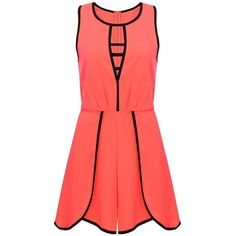 Yoins Sleeveless Playsuit ($18) ❤ liked on Polyvore featuring jumpsuits, rompers, dresses, playsuit, vestidos, black, jumpsuits & rompers, sleeveless jumpsuit, playsuit romper and sleeveless rompers