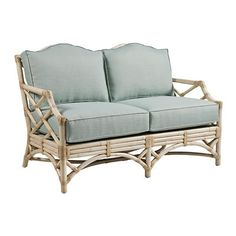 Chippendale Loveseat with Rattan Frame - Variety of Finishes Available