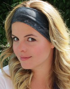 Grey Tie dye Headband, Grey and Dark Grey Tie Dye Turban, stetch headband, Twist Headband, Gym Band, Sport Headband,Crossfit Headband, Yoga