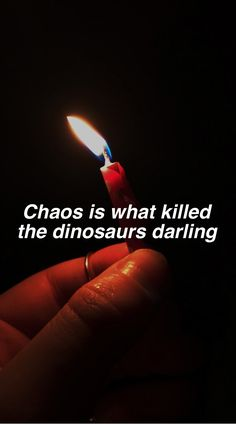 Chaos created everything and fear made it beautiful
