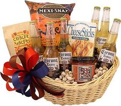 Beer gift baskets for men with craft brews, ipa's & more. Alcohol Gift Baskets, Food Gift Baskets, Gift Baskets For Men, Alcohol Gifts, Wine Baskets, Beer Basket, Craft Beer Gifts, Mexican Beer, Gifts For Beer Lovers