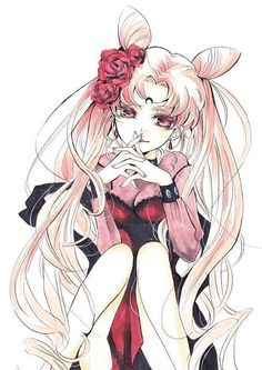 Chibiusa(Rini) as Black Lady! (Correct me if im wrong but i think that was her name as that)