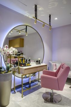 Orchid beauty boutique sneha divias atelier bali tall styling station salon interior design inspiration decor ideas and design buyrite beauty salon equipment chic vintage modern styling chair shampoo chair styling station and more! Home Beauty Salon, Home Hair Salons, Hair Salon Interior, Beauty Salon Decor, Beauty Salon Design, Beauty Salons, Salon At Home, Salon And Spa, Small Beauty Salon Ideas