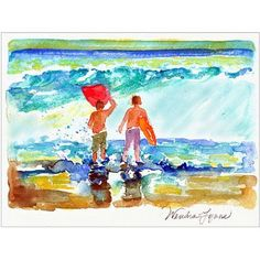 Trademark Fine Art Boogie Boarders Canvas Art by Wendra, Size: 18 x 24, Multicolor