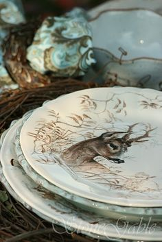 Woodland Tablescape from StoneGable http://www.stonegableblog.com/2010/11/woodland-tablescape.html