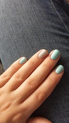 Red carpet manicure - sea cloud cruise & silver glitter