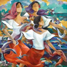 Oscar Salita - Artist, Fine Art Prices, Auction Records for Oscar Salita Murals Street Art, Art And Illustration, Cuba Art, Filipino Art, Mexican Paintings, Philippine Art, Paisley Art, Arte Popular, Cool Paintings