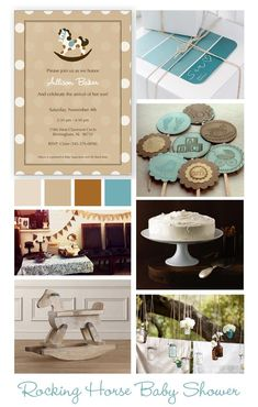 Rocking Horse Baby Shower Inspiration Board