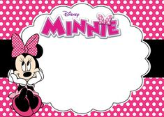 minnie mouse birthday invitation template