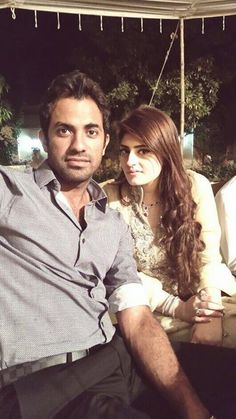 Wahab Riaz With Wife Zainab !