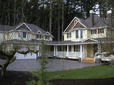 Beautiful farmhouse with adjacent three-car garage attached to main house by covered porch. Bonus room over garage provides home with extra living, storage, or recreational space. Country Style House Plans, Dream House Plans, Small House Plans, House Floor Plans, Garage Studio, Garage Plans, Car Garage, Garage Ideas, Farmhouse Plans
