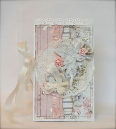 Shabby card with papers from Fab Scraps