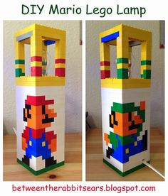 Between the Rabbit's Ears: DIY: Mario Lego Lamp with instructions