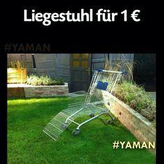 Liegestuhl für 1 Euro