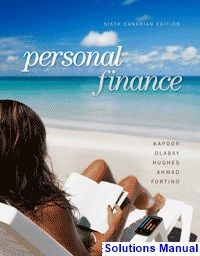 Solution manual for personal finance turning money into wealth 6th personal finance canadian canadian 6th edition kapoor solutions manual test bank solutions manual fandeluxe Image collections