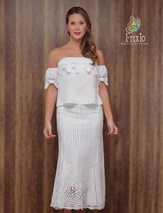 REF 01/687 Strapless Dress, Shoulder Dress, Dresses, York, Style, Fashion, Embroidered Blouse, Embroidered Dresses, White Gowns