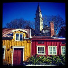I used to live here, in Bakklandet - Trondheim, Norway. Such a charming place  Bakklandet, Trondheim - Instagram photo by @skrensi #travel #norway #trondheim