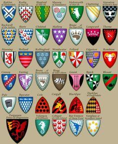 Confraria de Arton: Todos os escudos das casas de Game of Thrones