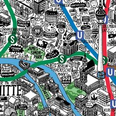 Grafik-Designerin Jenni Sparks zu Berlin: Die selbstgemalte Berliner Hipster-Karte | Berlin - Berliner Zeitung