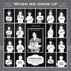 When we grow up.photo collage The ultimate list of birthday gifts with ideas for men and women, including sentimental gifts, gift baskets, gag gifts, and gadgets. End Of School Year, End Of Year, Beginning Of School, Pre School, Pre K Graduation, Kindergarten Graduation, Kindergarten Class, Preschool Graduation Gifts, Graduation Ideas