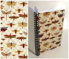 Bugs on Grid  Spiral Notebook 5 x 7 by Ciaffi on Etsy, $15.00