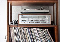 My vintage Yamaha stereo + Sony turntable
