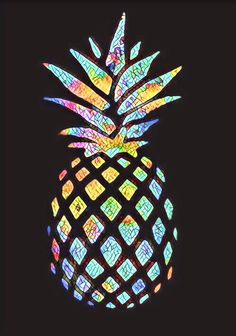 Wallpaper For IPhone Of An Colorful Pineapple