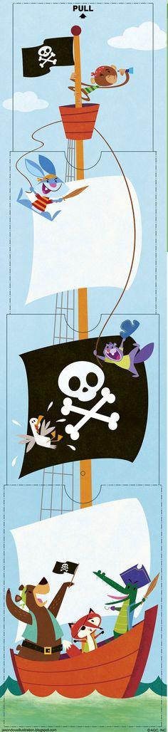 Jason Dove Illustration: Animal Pirate Card