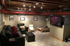 """94 best """"finished"""" unfinished basements images in 2020"""