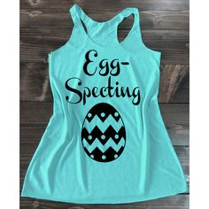 Egg Specting Pregnancy Tank Top Easter Pregnancy Announcement Shirt... ($21) ❤ liked on Polyvore featuring activewear, pink and women's clothing