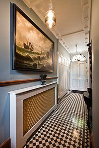 Small tiles in a small hallway
