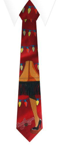 $9.99 A Christmas Story Leg Lamp Neck Tie Red With String Lights. Wow! Real fringe! Get the holidays off to a merry start with this Red String Lights Neck Tie from NECA. Derived from the A Christmas Story movie and featuring that iconic leg-lamp image, this festive neckware will be a big hit around the office or at your next party!