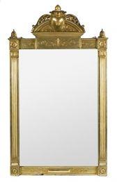 Espejo alfonsino en madera tallada y dorada, de finales del siglo XIX