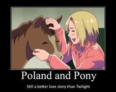 I ship it poland and pony my new OTP << wut. Only Poland x Liet Poland Hetalia, Hetalia Japan, Best Love Stories, Love Story, Bad Touch Trio, Hetalia Funny, Hetalia Characters, A Series Of Unfortunate Events, Axis Powers