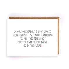 funny anniversary card for him, paper anniversary cards for husband, cards for wife, anniversary gifts for boyfriend, 10th anniversary GC133 by NirvanaDesignsGifts on Etsy