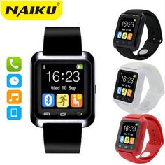 9a77ef204be Smartwatch Bluetooth Smart Watch U8 WristWatch digital sport ure til IOS  Android Samsung telefon Wearable Electronic Device