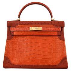 Orange Handbag on Pinterest | Handbags, Green Handbag and Purses