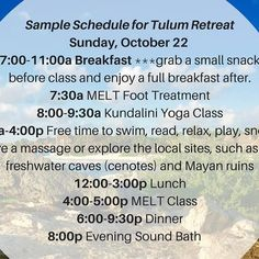 ❤ Namaste, Blissful Friends!    Yay! It's here, our sample schedule for Maya Tulum.   We're wrapping up the final details on your Welcome Packets and creating our Secret Facebook Page 🤗 We would love for you to begin connecting, preparing, and building the Tulum Tribe vibes well in advance 😘    https://www.intentionalbliss.org/mexico    Sat Nam, Loves! ❤ ...
