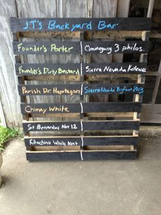 Made a beer menu for all brews in the fridge | Community ...