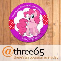 4 personalizado mi Little Pony cumpleaños Favor por at365everyday