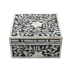 Decorative Photo Boxes 16″ Bombay Taj Bone Inlay Large Decorative Box  All Purpose Boxes