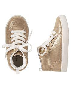 b20c540fd84c Chaussures à tige haute scintillantes pour bébés filles
