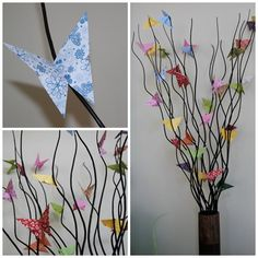 color butterflies decoration